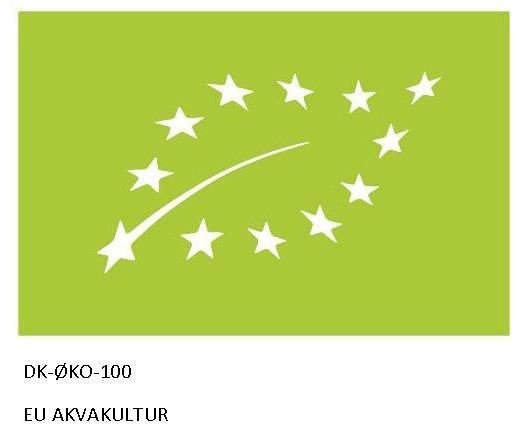 EU øko logo med tekst
