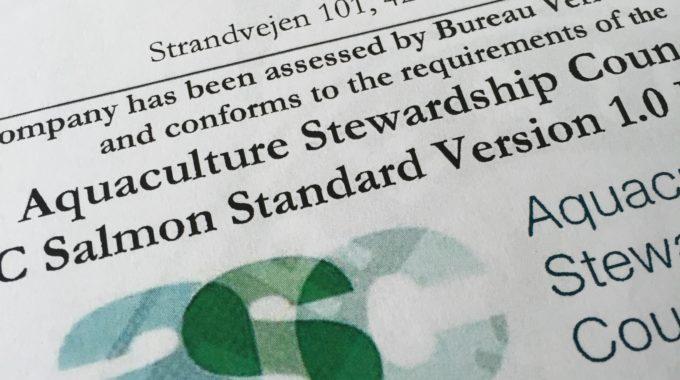 """""""Musholm Vest"""" Er Danmarks Første ASC-certificerede Havbrug"""